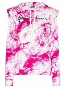 Versace tie-dye print logo hoodie - PINK