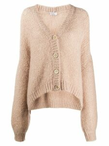 Brunello Cucinelli oversized chunky knit cardigan - NEUTRALS