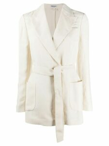 Brunello Cucinelli belted lightweight blazer - NEUTRALS