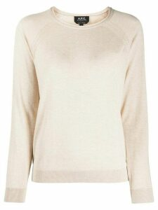 A.P.C. long sleeve jumper - NEUTRALS
