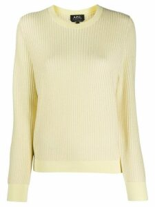 A.P.C. ribbed knit jumper - Yellow