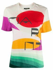 Isabel Marant abstract logo print T-shirt - NEUTRALS