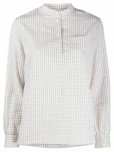 A.P.C. check long sleeve shirt - White