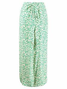 GANNI long floral print skirt - NEUTRALS