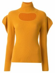 Manning Cartell ruffle sleeve cut-out detail sweater - Yellow