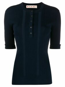 Marni buttoned knitted top - Blue
