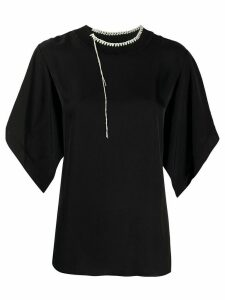 Joseph Baila contrast-stitching blouse - Black