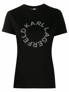 Karl Lagerfeld Circle logo cotton T-Shirt - Black
