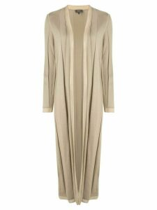 Theory long open-front cardigan - NEUTRALS