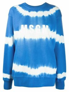 MSGM logo-print tie-dye sweatshirt - Blue