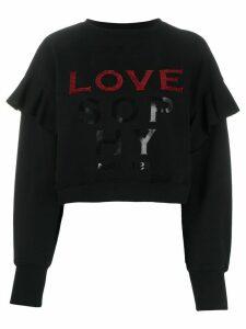 Philosophy Di Lorenzo Serafini sequin-embellished logo sweatshirt -