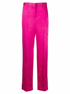 MSGM floral jacquard tailored trousers - PINK