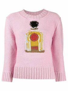 Patou Perfume Bottle intarsia jumper - PINK