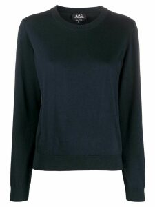 A.P.C. crew neck sweater - Blue