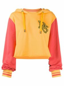 Dolce & Gabbana DG contrasting sleeves hoodie - Yellow