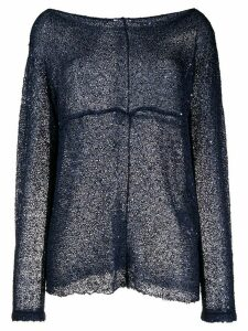 P.A.R.O.S.H. sequin knitted jumper - Blue