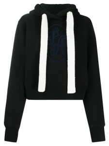 Palm Angels logo boxy hoodie - Black