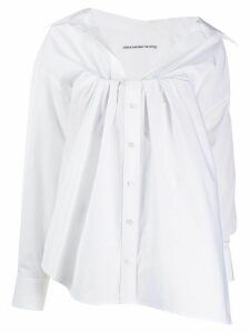 Alexander Wang gathered neck shirt - White