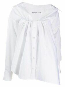 Alexander Wang gathered neck shirt - White