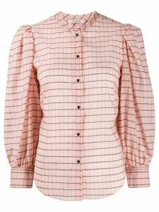 Dorothee Schumacher puff-sleeve checked blouse - PINK