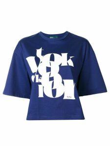 Kolor boxy logo print T-shirt - Blue