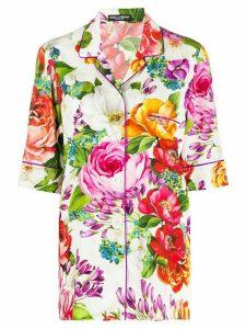 Dolce & Gabbana mixed floral print blouse - NEUTRALS