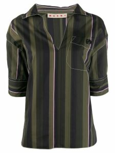 Marni striped shirt - Green
