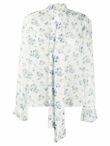 be blumarine floral pussy-bow blouse - White