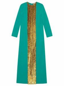 Gucci sequin-embellished long dress - Green