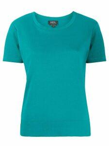 A.P.C. jersey T-shirt - Blue