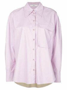 Tibi relaxed fit blouse - PURPLE