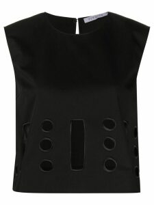 Vivetta cropped cut-out detail top - Black