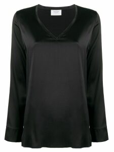 Snobby Sheep V-neck satin blouse - Black