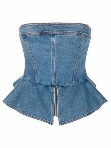 Philosophy Di Lorenzo Serafini peplum denim top - Blue