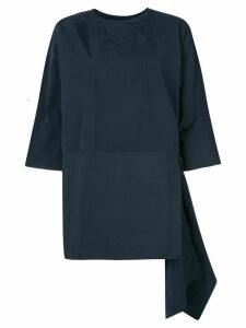 Sofie D'hoore oversized asymmetric cotton top - Blue
