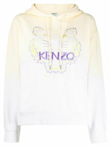 Kenzo Tiger embroidered hooded sweatshirt - Yellow