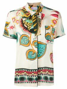 RedValentino floral-print shirt - NEUTRALS