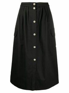 Semicouture cargo pocket midi skirt - Black