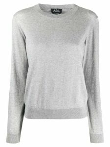 A.P.C. crew neck sweater - Grey