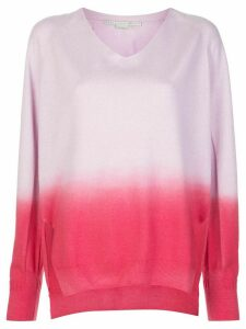 Stella McCartney dip-dyed V-neck jumper - PINK
