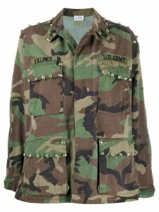 P.A.R.O.S.H. camouflage print military jacket - Green