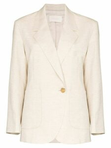Low Classic single-breasted blazer - NEUTRALS
