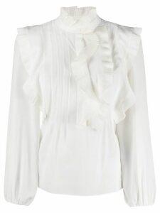 Chloé ruffle-trimmed silk blouse - White