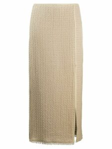 Nanushka Moja slit skirt - Brown