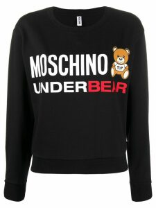Moschino Underbear print sweatshirt - Black