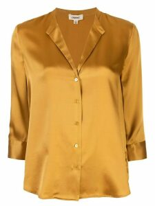 L'Agence cropped sleeve silk blouse - Yellow