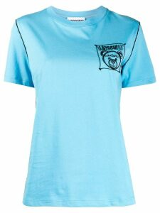 Moschino embroidered Teddy Bear T-shirt - Blue