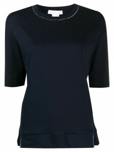 Fabiana Filippi short sleeve knitted top - Blue