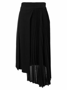 Moncler asymmetric pleated midi skirt - Black