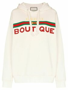 Gucci Boutique print hoodie - White